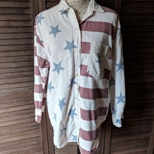 Vintage Quizz New York Americana Button-Down